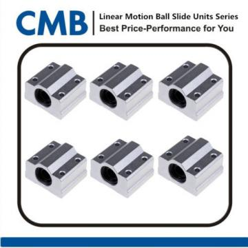 6pcs SC8UU Linear Motion Ball Bearing Slide Unites Bushing 8mm SCS8UU Block New