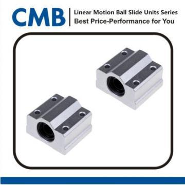 2pcs SC8UU SCS8UU Linear Motion Ball Bearing Slide Unites Bushing 8mm Brand New