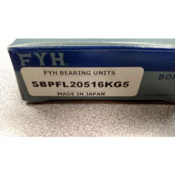 TWO (2) FYH BEARING UNITS SBPFL20516KG5