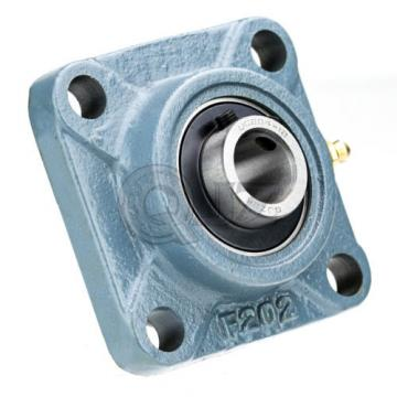 2x 2.25 in Square Flange Units Cast Iron UCF212-36 Mounted Bearing UC212-36+F212