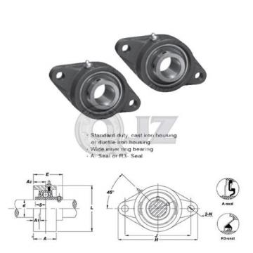 2x 1 in 2-Bolts Flange Units Cast Iron UCFL205-16 Mounted Bearing UC205-16+FL205