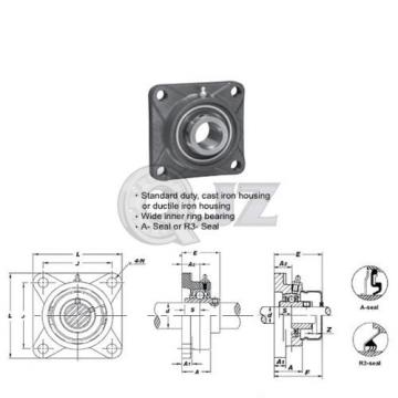 35 mm Square Flange Units Cast Iron UCF207 Mounted Bearing UC207+F207 New QTY:1