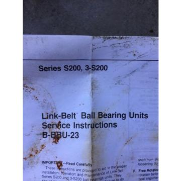 (2) Rexnord P3U227E3K75199A Link-belt Ball Bearing Units 1 11/16 NEW!!