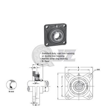 1.25 in Square Flange Units Cast Iron SBF206-20 Mounted Bearing SB206-20+F206