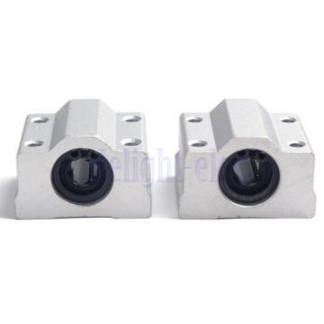 2 X SC8UU Linear Motion Ball Bearing Slide Unites Bushing 8mm SCS8UU Block DH