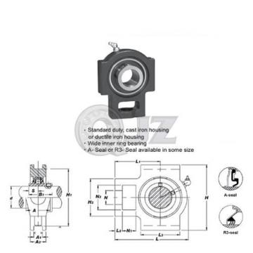 20 mm Take Up Units Cast Iron UCT204 Mounted Bearing UC204 + T204 New (QTY:1)