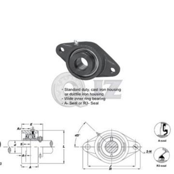 1 in 2-Bolts Flange Units Cast Iron HCFL205-16 Mounted Bearing HC205-16+FL205