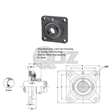 1.125 in Square Flange Units Cast Iron SAF206-18 Mounted Bearing SA206-18+F206