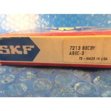 SKF 7213 BECBY Angular Contact Ball Bearing, 65 mm ID x 120 mm OD x 23 mm W, USA