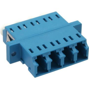 Fiber Optical Adapter quad LC/LC SM blue Ceramic Sleeve